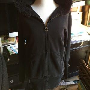 Forever 21 Fur Hoodie Jacket